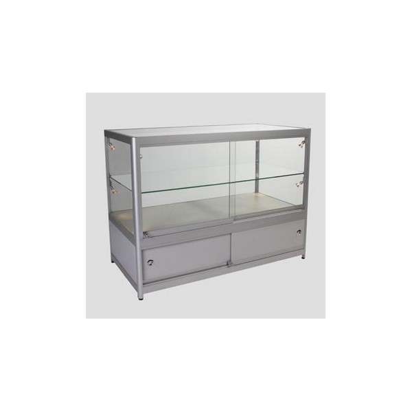 glass display cabinet with lock