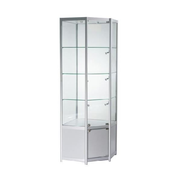 glass display cabinet lockable