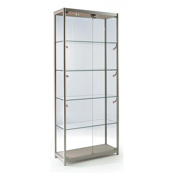 glass display cabinet wall hung