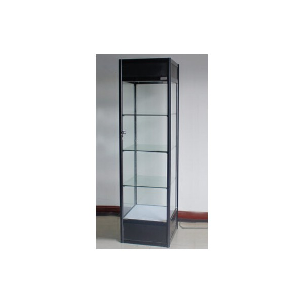 glass display cabinet with led lighting