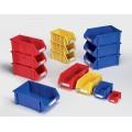 plastic storage bin with handles