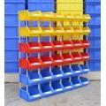 plastic storage bin with dividers