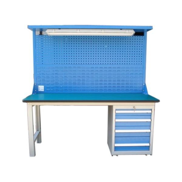 Heavy duty steel workbench for workplace