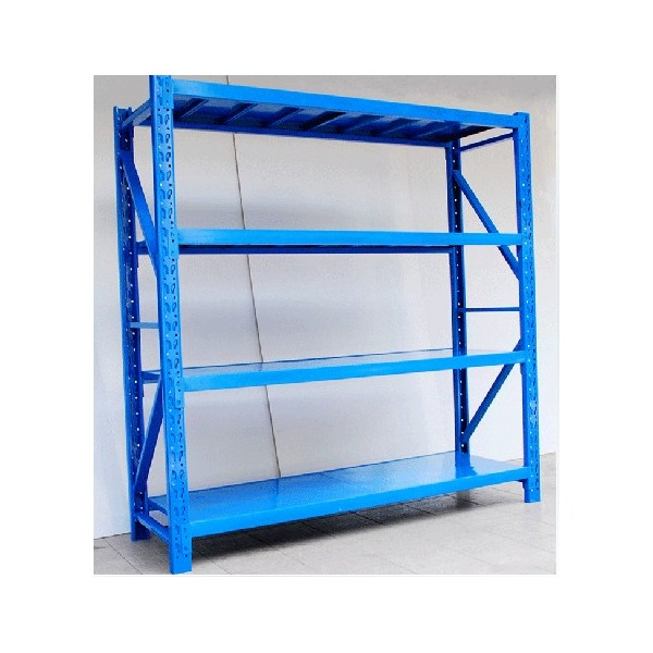 Adjustable warehouse shelf