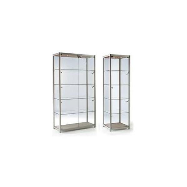 aluminium glass display showcase with LED lights