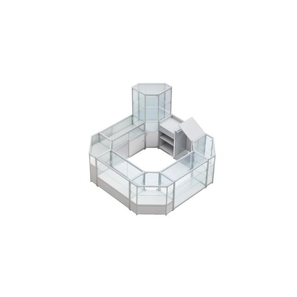 glass store design and shop counter design