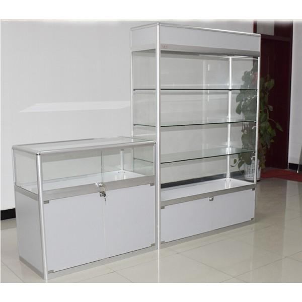 aluminium and glass display counter