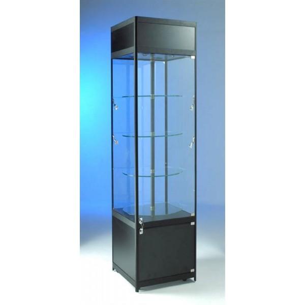 glass rotating showcase