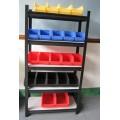plastic storage bin rack