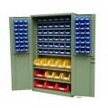 plastic storage bin cabinet