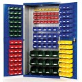 plastic parts box cabinet with louver boards