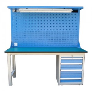 Heavy duty steel workbench for workplace