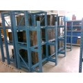 mold storage rack with hoist