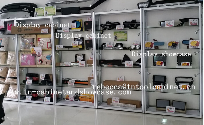 glass display cabinet for widely used
